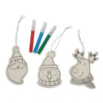 Colour Your Own Christmas Decoration